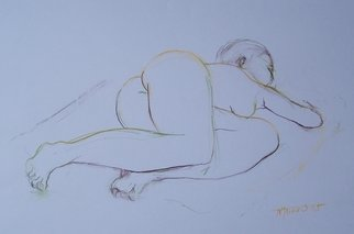 Nicole M. Mathieu Artwork lying nude, 2005 Pencil Drawing, Nudes