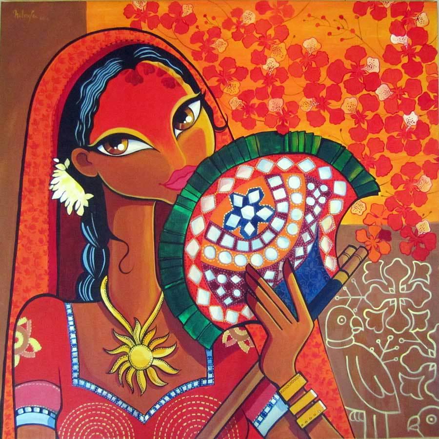 Niloufer Wadia Artwork Heat Original Painting Acrylic