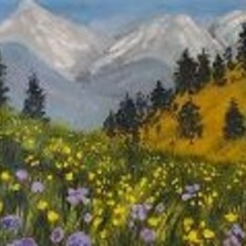 alpine flower meadow By Marilyn Domilski