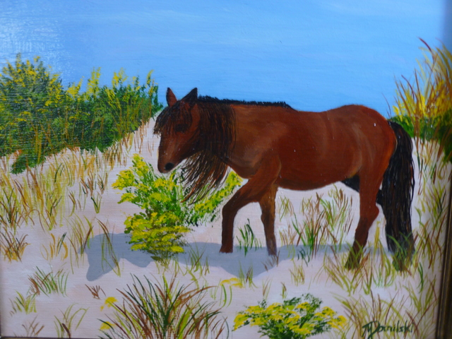 Marilyn Domilski  'Dune Pony', created in 2021, Original Painting Other.