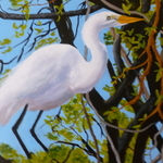 great white heron By Marilyn Domilski