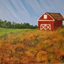 red barn By Marilyn Domilski
