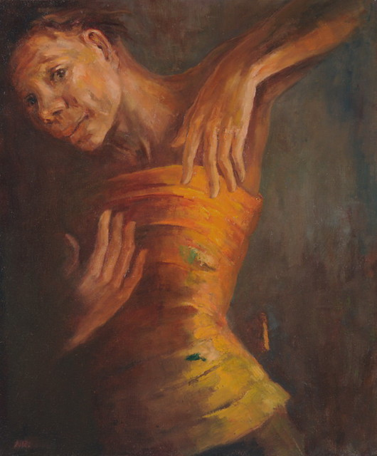 Noella Roos  'Legong Dance, A Moment', created in 2011, Original Painting Oil.