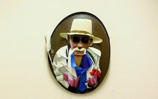 Noel Molloy: 'portrait of ej peters', 2015 Mixed Media Sculpture, Abstract. Artist Description: portrait of the late artist EJ Peters...