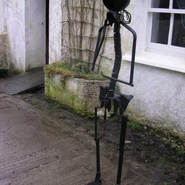 Noel Molloy Artwork standing figure, 2010 Mixed Media Sculpture, Figurative