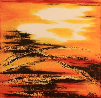 Nora Franko: 'sunset sisters 1', 2013 Oil Painting, Abstract. Artist Description: Original Oil Painting on Gallery Wrapped Canvas. ...