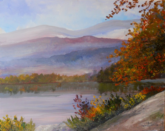 William Christopherson Adirondack High Peaks Heart Lake Canoeist  2012