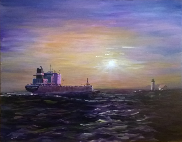 William Christopherson Algoma Guardian Sunken Rock Seascape Thousand Islands 2015