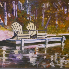 High Peaks Adirondacks Pallet Knife Oil Heart Lake Christopherson