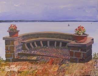 William Christopherson: 'Singer Castle Thousand Islands Saint Lawrence', 2011 Acrylic Painting, Seascape.  Titled