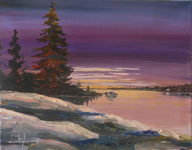 William Christopherson Thousand Islands Keewaydin Saint Lawrence Sunset Christopherson 2013