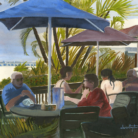 Lunching Snowbirds Fort Myers, William Christopherson