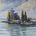 sisters island lighthouse By William Christopherson
