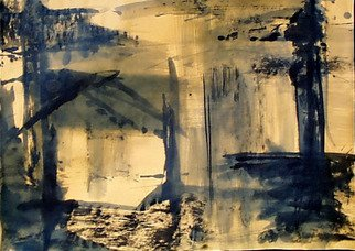 Novica Djenic: 'zuti8', 2005 Ink Painting, Abstract.