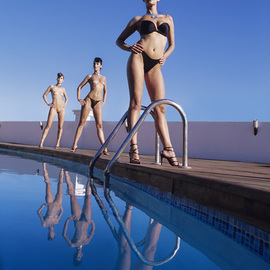 Thomas Schweizer Artwork Pool, 2007 Color Photograph, Nudes