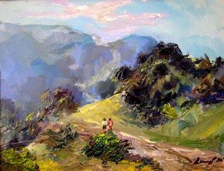 Renuka Pillai: 'Laguna Canyon Road', 2008 Oil Painting, Beauty. Artist Description:     Study from Life    ...