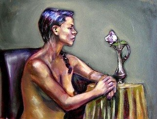 Renuka Pillai: 'The Rose', 2010 Oil Painting, Beauty.