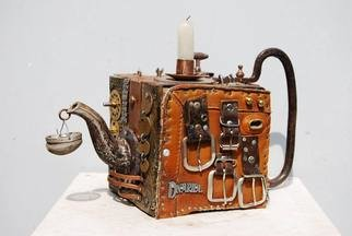 Max Nushtaev: 'Candlestick Teapot', 2009 Mixed Media Sculpture, undecided.  Unusual candlestick in the form of a teapot from old iron  ...