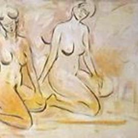 Nutan Shukla: 'Nudes', 2003 Oil Painting, Nudes. Artist Description: Oil on canvas...