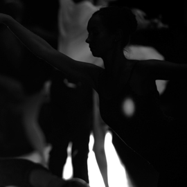 Yulia Nak: 'silhouette  russian ballet', 2016 Black and White Photograph, Dance. Artist Description: Dance, black white, theater...