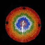 mosaic rainbow wall clock By Natalija Zabav