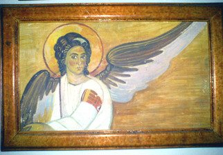 Nevenka Zdraveva: 'Angel', 1995 Tempera Painting, Biblical.