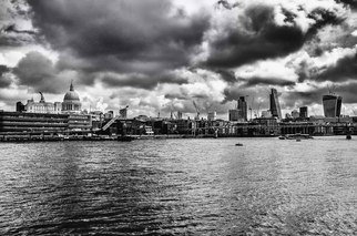 Des Byrne: 'London Skyline', 2015 Black and White Photograph, Landscape. Artist Description:  London skyline st. pauls black and white cityscape art ...