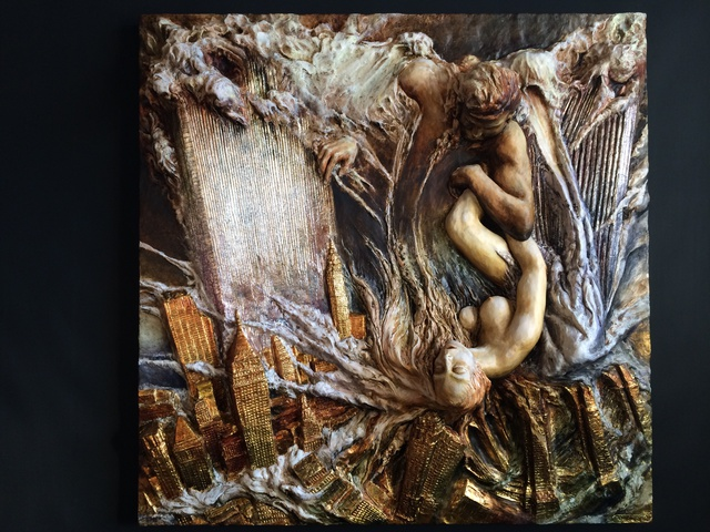 Janusz Obst  'Forever', created in 2005, Original Bas Relief.
