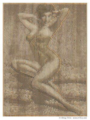 Oleg Filin: 'hour glass', 2017 Mixed Media Photography, Erotic. Artist Description: Ava Gardner s nue. . . a Pin Up series by Oleg Filin  images are compiled with drawing pins, sparced over wooden surfaces AVAILABLE IN PRINTS only  the artwork is presented by a PREVIEW image at absolutearts. com and  available in high- quolity wall art prints at another art trading ...