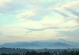 Ron Ogle: '645 am May 22 2009', 2009 Color Photograph, Landscape.  the view from near the Federal Building, here in Asheville, N. C. ...