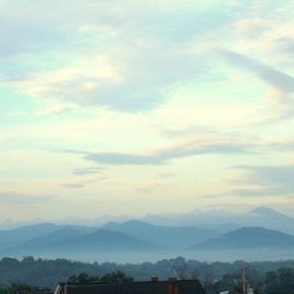 Ron Ogle: '645 am May 22 2009', 2009 Color Photograph, Landscape. Artist Description:  the view from near the Federal Building, here in Asheville, N. C. ...