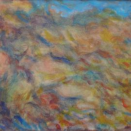 Ron Ogle Artwork Abstract Renoir Landscape, 1997 Oil Painting, Abstract