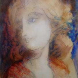 Ron Ogle: 'AmandaLynda', 2005 Oil Painting, Figurative. Artist Description: This is  oil on paper, on a pencil sketch that I drew at Gatsby' s....