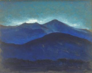 Ron Ogle Artwork Blue Mountains, 2006 Oil Painting, Landscape