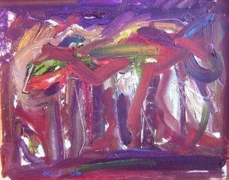 Ron Ogle: 'HORSE SERIES number 9', 1999 Oil Painting, Abstract. Truth waits for eyes unclouded by longing....