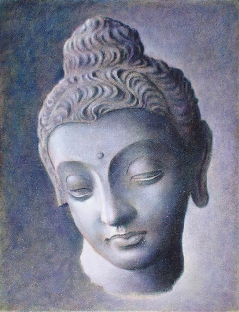 Ron Ogle  'Head Of Buddha', created in 2008, Original Drawing Other.