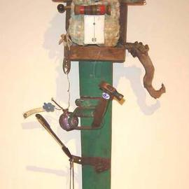 Ron Ogle Artwork Men are from Mars and Women are from England, 1999 Assemblage, Americana