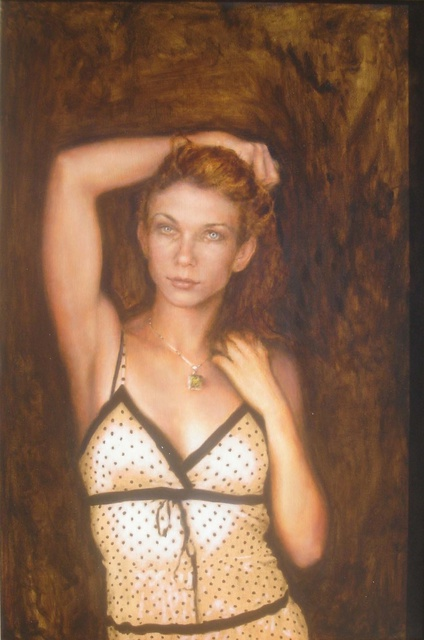 Ron Ogle: Ms Swafford, 2008 Oil Painting