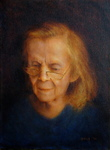 Artist: Ron Ogle, title: My Mother at 89, 2011, Painting Oil