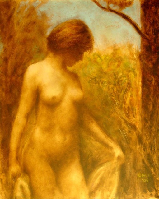 Ron Ogle  'NUDE IN LANDSCAPE', created in 2006, Original Drawing Other.