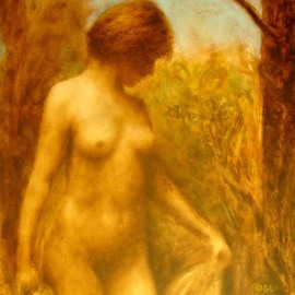Ron Ogle: 'NUDE IN LANDSCAPE', 2006 Oil Painting, Nudes. Artist Description:  Oil on panel. Based on a 1930' s black and white photograph by Paul  Outerbridge. ...