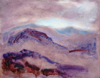 Ron Ogle: 'Purple Landscape', 2005 Oil Painting, Abstract Landscape.   Woman is in her whole existence an appeal to the kindness of man. [ Karl Barth ] ...