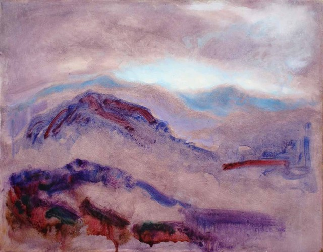 Ron Ogle  'Purple Landscape', created in 2005, Original Drawing Other.