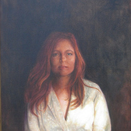 Ron Ogle: 'REBECCA', 2007 Oil Painting, Portrait. Artist Description: Rebecca is a very gracious person. I have not done her justice here [ a poem about a flower is not the flower ] . This painting is now on exhibit in Lorraine' s Jewelers, Battery Park Ave. , Asheville, North Carolina. [ I am presently accepting commissions for oil portraits. Prices begin ...