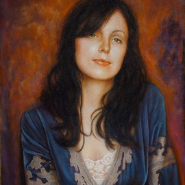 Ron Ogle: 'Rebecca', 2010 Oil Painting, Portrait.