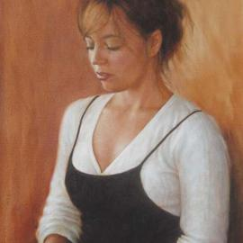 Ron Ogle: 'Stephanie', 2004 Oil Painting, Portrait. Artist Description: Stephanie is a well respected teacher of yoga. And she is nice....