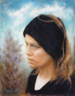 Ron Ogle Artwork WOMAN IN BLACK, 2008 Oil Painting, Activism