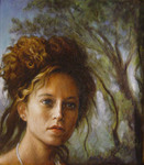 Artist: Ron Ogle, title: Young Woman Out of the Wood..., 2003, Painting Oil