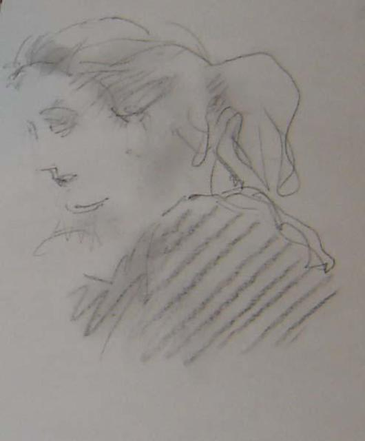 Ron Ogle  'Brunette', created in 1998, Original Drawing Other.