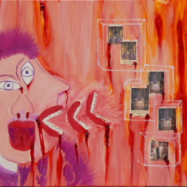 Obert Fittje Artwork Bad Reaction to Bacon, 2007 Oil Painting, Satire